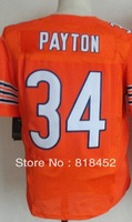 Free shipping wholesale cheap american elite football jersey, chicago #34 PAYTON Embroidery logos Mixed Order size M-XXXL