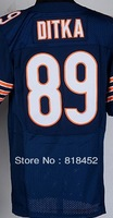 Free shipping wholesale cheap american elite football jersey, chicago #89 DITKA  Embroidery logos Mixed Order