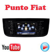 Punto Fiat Car DVD GPS Car PC console Multimedia Device 3G wifi Navigation HD touch video Factory Price Free Map
