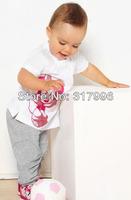 Free shipping brand children sport set,children clothing set,mickey shirt + pants set,minnie shirt + pants set,5sets/lot