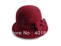 Winter Women Wool Fedora,100% Wool,  high-end wool Felt hat, Fashion and beautiful Wool Hat