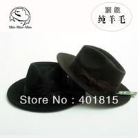 FUSHENZ CAP,100% Wool Fedora, Wool Felt hat, high-end Classic Perfom wool Felt hat, Gentle-men Fedoras