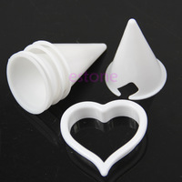 1set Biscuit Conical Cup Flower Fondant Mold Cake Cutter Decorating Tools