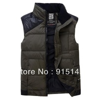 005 2013 winter new arrival fashion men's vest, casual fitness men parkas ,warm clothing men free shipping