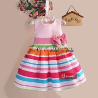 free shipping retail new girls dresses Elegant dress ,party baby girl princess clothing,dress summer baby,flower dress for girls