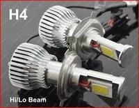 one set H4 60W Hi/ Lo Beam 2nd Generation  COB LED Car Headlight Car Fog light ,lamp 3600 lumens 6000K NO ERROR GGG