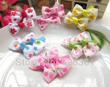 """6 pares de flor grampos de cabelo gorgorão impressa fita bowknot 2 """" meninas crianças bebê cabelo clipes de morango / Estrelas impresso(China (Mainland))"""