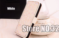 Hot Sale Miscellaneous Swarovski Element Crystal Leather Pouch Cover Case For Samsung Galaxy S3 I9300 Free Shipping