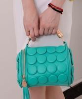 Pillow Bucket Button Bag Women Handbag 2013 Fashion Tassel Shoulder bag Messenger bag for women Black Golden Zipper Cheap bag