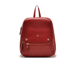 AL 2014 fashion designer famous brands pu Leather high quality back pack unique zipper tote small canvas backpack