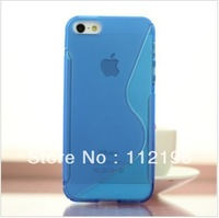 300pcs/lot S Line Soft TPU Gel Case for iPhone 5S 5 5G mobile Phone Bag Back Cover Cases for iPhone5 Top Quality Silicone