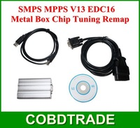 2013 New SMPS MPPS V13 EDC16 Metal Box Chip Tuning Remap Chiptuning CAN Flasher free shipping