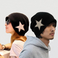 2013 knitted yarn five-pointed star hat thermal casual lovers cap