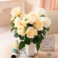 New arrival decoration  rose 5 fork aesthetic the rose  holding flowers  artificial flower Wedding Favor Decoration