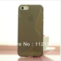 200pcs/lot S Line Soft TPU Gel Case for iPhone 5S 5 5G mobile Phone Bag Back Cover Cases for iPhone5 Top Quality Silicone