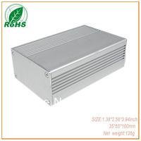 Made in china small aluminium enclosure for aluminium profile box  pcb 35*65*100mm 1.38*2.56*3.94inch