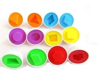 Free shipping 6 Mixed Shape Wise Pretend Puzzle Smart Eggs Baby Kid Learning Kitchen Toys Tool_In Stock