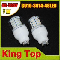 4Pcs Corn Light GU10 GU10-3014-48LED 7W AC85V-265V LED Spotlight GU10 3014 SMD 48LED Bulb Lamp Light Free Shipping