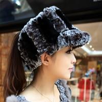 Women's fur hat thickening pineapple warm hat rabbit knitted hat 2013 autumn and winter