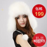 Fur hat women's fox fur hat fox fur hat lei feng winter whole skin fur hat snow cap