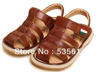 Top Quality ! Children Boy's Genuine Leather Sandals , TPR Outsole , Kds New Sumer Velcro Slippers , Soft Anti-skidding Sandal
