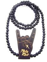 Corna pendant designs hip hop good wood made rosary beaded pendants necklaces(10pc/lot)
