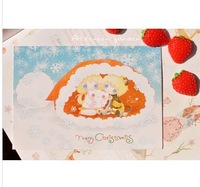 Christmas panenka Christmas cards post card / greeting card / postcard 2pcs/set FREE SHIPPING