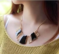 Min.order is $8(mix order) Big Star style Hilton Love black geometric irregular short charm Necklace Wholesale ornaments