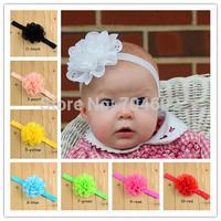 11Colors New Style beautiful Hollow chiffon flower headband girl baby hair band headwear 10pcs/lot FD089