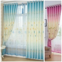 Free shipping Child child girl boy bedroom curtain blue pink screens luxury curtains for living room hospital room divider