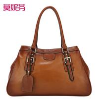2013 fashion genuine leather bags women leather handbags  high quality Elegant brown designer bag