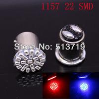 100pcs/lot Free shipping 1157 2057 T25 1206 22 SMD LED Car Brake Stop Tail Light Lamp Bulb White New