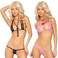 European New Arrival Super Sexy Women's Bikini Set Fashion Gauze Bikini For Women Free Shipping