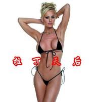 European New Arrival Super Sexy Women's Cotton Lace-up Bikini Set Free Shipping