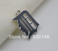 Free shipping 20pcs a lot fashional dark blue enimal single-sided Detroit Tigers Charm Jewelry Accessory