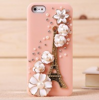 New flowers retro tower IPH / 5 5 trendy mobile phone shell protective sleeve rhinestones fruit