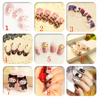 Wholesale  Nail Art Patch Fake False Finger, Art Sticker,Display Decals Tips.4.16376.Free shipping