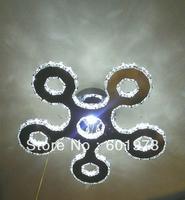 Free shipping 2013 New Design Hot Sell  Modern LED Energy Saving  Flush Mount Crystal Ceiling Lamp for Dining Room 9209-30+1