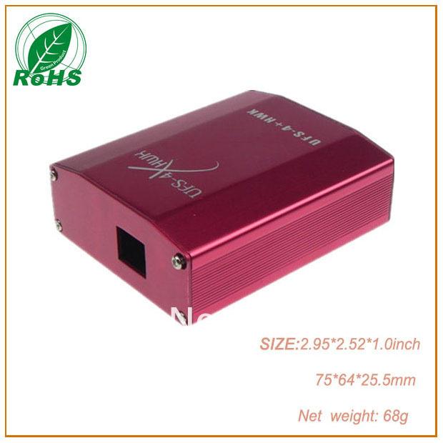 Amplifier enclosure car dvd for azbox aluminium box 2.95*2.52*1.0inch 75*64*25.5mm(China (Mainland))