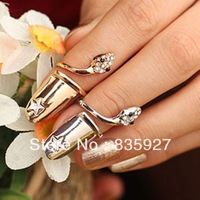 The new fashion personality ShanZuan serpents nail ring female money free shipping