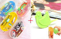 DIY needlework tools set Practical sewing box set Cross-stitch tools Color random delivery