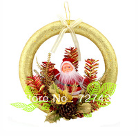 Free shipping Christmas decoration New 2013 Christmas door wreath hung doors decorated 20 cm foam Christmas wreath hung