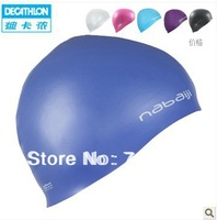 2013 New  fashion waterproof silicone Swim cap for female maler with  high chlorine