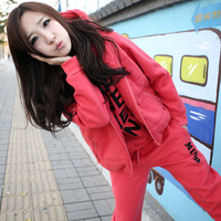 HOT !! new SET 3 sport sweater autumn and spring season good quailty weight 0.9kgs women's sweatshirt Hooded 3pcs/set