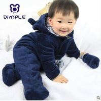 2013 infant autumn and winter super soft thickening thermal one piece climbing clothes romper