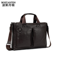 Guaranteed 100% Genuine leather Business casual male briefcase leather bag genuine leather handbag man bag b10104
