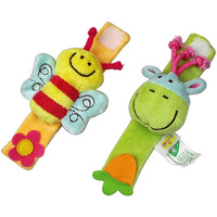 ELC  Rattle  animal Wrist  bee little donkey wrist baby toys 0-12 month  2 PCS/set free shipping