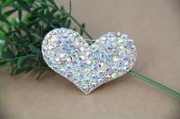 heart brooch metal rhinestone brooch jewelry for women new design fashion free shipping