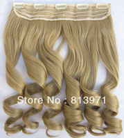 Featured Women's Curly Hair Heat Resistant Hairpieces Synthetic Hair Clip in on Hair Extensions #24 Light Brown Hair for Women