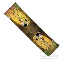 "10pcs/Lot 100% Silk Shawls Gustav Klimt's ""The Kiss"" 1907 Oil Painting Handrolled Edges Long Scarf Shawl Wraps Hijab Headscarf"